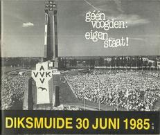 58ste IJZERBEDEVAART DIKSMUIDE 30 JUNI 1985 AVVK IJZERTOREN KAASKERKE - Programs