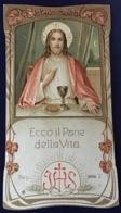 """Antico Santino Holy Card Dei Primi '900  """" ECCO IL PANE DELLA VITA   """" N. 4234 Con Dedica 1916 - Religion & Esotérisme"""