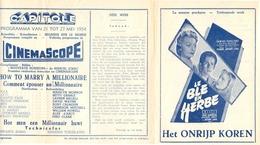 Ciné  Bioscoop Programma Cinema Capitole - Savoy - Select - Eldorado - Gent - Film How To Marry A Millionaire - 1954 - Publicité Cinématographique