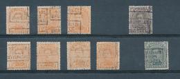 178/28 -- PREOS 9 Timbres Petit Albert Positions C Et D De BRUXELLES - Cote Catalogue 970 FB - Vorfrankiert