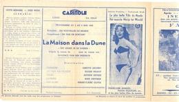 Ciné  Bioscoop Programma Cinema Capitole - Savoy - Select - Eldorado - Gent - Film La Maison Dans La Dune  - 1952 - Cinema Advertisement