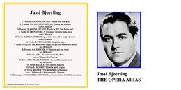 UNICUM. Superlimited Edition CD Jussi Bjoerling. THE OPERA ARIAS - Opera