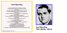 Superlimited Edition CD Jussi Bjoerling. THE OPERA ARIAS - Opera