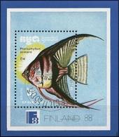 Kampuchea 1988 - Fish : Freshwater Angelfish ( Mi BL 161 - YT BF 68 ) - Kampuchea