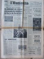 Journal L'Humanité (15 Mai 1969) Candidat De L'Union - Week End Spacial - Soldat Inconnu - R Louviot - Kranten