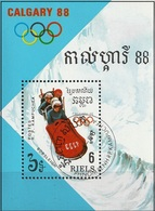 Kampuchea 1988 - Calgary Olympics : Bobsleigh ( Mi BL 156 - YT BF 63 ) - Kampuchea