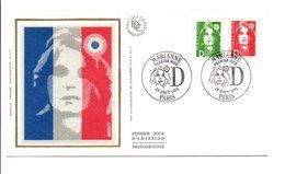1991 FDC MARIANNE DE BRIAT - FDC