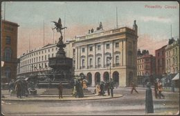 Piccadilly Circus, London, C.1905-10 - Postcard - Piccadilly Circus