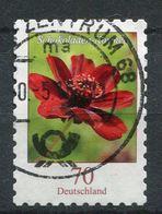 """Germany 2015 Mi.Nr.3197 Selbstkleber Aus Folien """"Freimarke,Blumen-Schokoladen-Kosmee (Cosmos Atrosanguineus)""""1 Wert Used - BRD"""