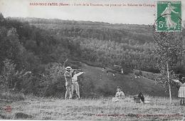 51 BARBONE-FAYEL Forêt De La TRACONNE  ANIMEE  FAMILLE Qui PICNIQUE LONGUE VUE - France
