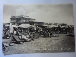 """Cartolina Viaggiata """"SCAURI  Lido Delle Sirene - La Spiaggia"""" 1965 - Altre Città"""