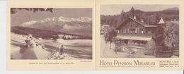 OLD BROCHURE - LEAFLET - FOLDER -   SWITZERLAND -     HOTEL PENSION MIRABEAU - MONTANA - 14 X 11 CM - Dépliants Touristiques