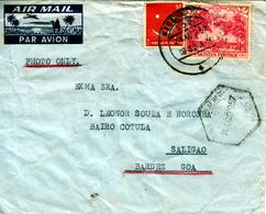 PAKISTAN 1957 AIRCOVER  To  PORTUGESE INDIA - Pakistan