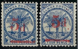 Samoa , N° 19 * + 19a TB - Samoa