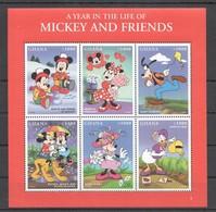 D291 GHANA CARTOONS WALT DISNEY A YEAR IN THE LIFE OF MICKEY & FRIENDS 1KB MNH - Disney