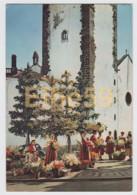 Funchal (Madeira, Portugal), Marché Aux Fleurs Derrière La Cathédrale, Costumes Traditionnels, écrite  1959 - Madeira