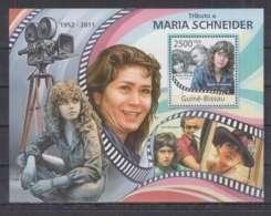 S89. Guine-Bissau - MNH - 2011 - Famous People - Maria Schneider - Bl - Célébrités