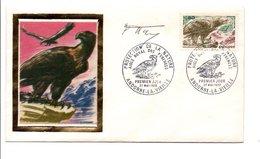 ANDORRE FDC 1972 AIGLE ROYAL  SIGNE PAR LE GRAVEUR FORGET - Eagles & Birds Of Prey