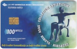 BOSNIA & HERZEGOWINA A-178 Chip PTT - Culture, Statuette - Used - Bosnia