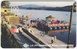 BOSNIA & HERZEGOWINA A-183 Chip PTT - Landscape, Lake - Used - Bosnia