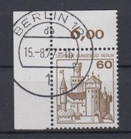 Berlin 537 Eckrand Links Oben Burgen+Schlösser 60 Pf  - Berlin (West)