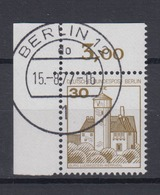 Berlin 534 Eckrand Links Oben Burgen+Schlösser 30 Pf  - Berlin (West)