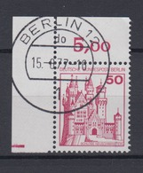 Berlin 536 Eckrand Links Oben Burgen+Schlösser 50 Pf  - Berlin (West)