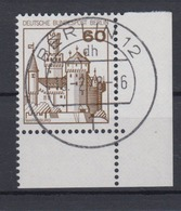 Berlin 537 Eckrand Rechts Unten Burgen+Schlösser 60 Pf  - Berlin (West)