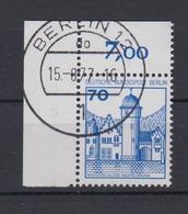Berlin 538 Eckrand Links Oben Burgen+Schlösser 70 Pf  - [5] Berlin