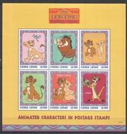 D299 SIERRA LEONE CARTOONS WALT DISNEY THE LION KING SIMBA'S PRIDE 1KB MNH - Disney
