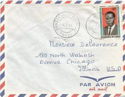 Congo 1968 Brazzaville Bacongo President Masamba-Debat Cover - Afgestempeld