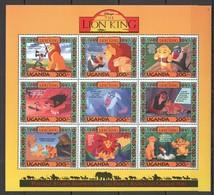 D300 UGANDA CARTOONS WALT DISNEY THE LION KING 1KB MNH - Disney