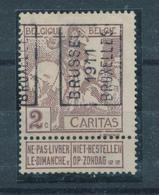 238/28 -- PREO Caritas Montald 2 C BRUXELLES 1911 - Catalogue Des Préos 2500 - Precancels