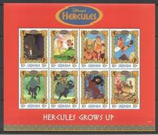 D302 GRENADA CARTOONS WALT DISNEY HERCULES GROWS UP 1KB MNH - Disney