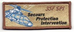 AERONAVALE Patch Flottille 35F LA ROCHELLE SPI Secours Protection Intervention BV Sable - Ecussons Tissu