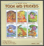 D303 ANTIGUA & BARBUDA CARTOONS WALT DISNEY A YEAR WITH POOH & FRIENDS 1KB MNH - Disney