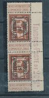 241/28 -- PREOS Paire Lion 2 C BRUXELLES 13 - TB Bord De Feuille Avec Inscriptions - Typos 1912-14 (Lion)