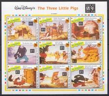 D304 ST.VINCENT CARTOONS WALT DISNEY'S THE THREE LITTLE PIGS 1KB MNH - Disney