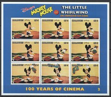 D307 MALDIVES CARTOONS WALT DISNEY MICKEY MOUSE 100 YEARS OF CINEMA WHIRLWIND 1KB MNH - Disney
