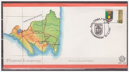 Indonesia 1982 FDC SHP 118 Arms Of Province Lampung - Indonesia