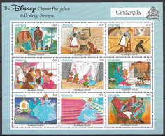 D312 GRENADA THE DISNEY CLASSIC FAIRYTALES IN POSTAGE STAMPS CINDERELLA 1KB MNH - Disney