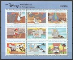 D313 GRENADA GRENADINES CARTOONS WALT DISNEY DUMBO 1KB MNH - Disney
