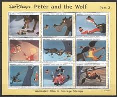 D314 MALDIVES CARTOONS WALT DISNEY PETER & THE WOLF PART 2 1KB MNH - Disney