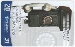 BRASIL G-748 Magnetic Telemar - Communication, Historic Telephone - Used - Brasilien