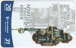 BRASIL G-754 Magnetic Telemar - Communication, Historic Telephone - Used - Brasilien