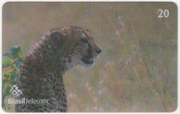 BRASIL G-781 Magnetic BrasilTelecom - Animal, Cat, Cheetah (Puzzle 1 Of 2) - Used - Brasilien