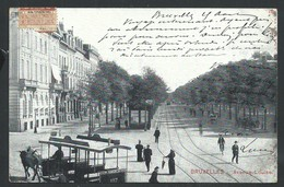+++ CPA - BRUSSEL - BRUXELLES - Avenue Louise - Tram Cheval   // - Avenues, Boulevards