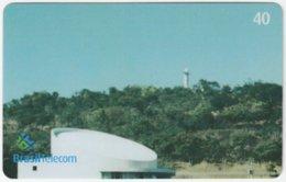BRASIL G-795 Magnetic BrasilTelecom - Memorial Juscelino Kubitschek (Puzzle 1 Of 4) - Used - Brasilien