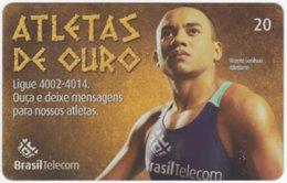 BRASIL G-812 Magnetic BrasilTelecom - Sport, Olympic Games, Goldmedal Winner - Used - Brasilien