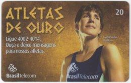 BRASIL G-813 Magnetic BrasilTelecom - Sport, Olympic Games, Goldmedal Winner - Used - Brasilien